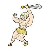 可笑的动画片蛮子英雄 免版税库存照片