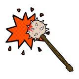 可笑的动画片血淋淋的中世纪钉头锤 皇族释放例证