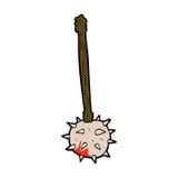 可笑的动画片血淋淋的中世纪钉头锤 向量例证