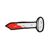 可笑的动画片血淋淋的钉子 库存例证