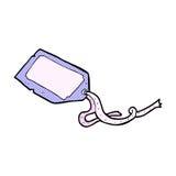 可笑的动画片行李标记 库存图片