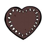 可笑的动画片被缝的心脏 免版税库存图片