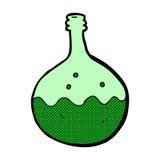 可笑的动画片起泡的化学制品 库存例证
