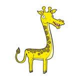 可笑的动画片长颈鹿 库存照片