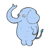 可笑的动画片滑稽的大象 免版税库存照片