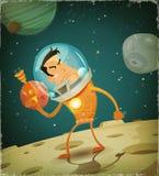 可笑的宇航员英雄 库存图片