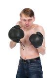 可笑的拳击手 库存图片