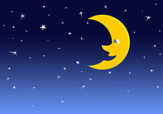 可笑的月亮 免版税库存照片