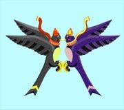 可笑的燕子孪生 图库摄影