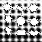 可笑的爆炸讲话泡影设置与中间影调 免版税库存照片