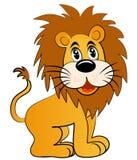 可笑的狮子年轻人 免版税库存照片