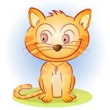 可笑的猫 向量例证
