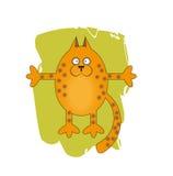可笑的猫 免版税图库摄影