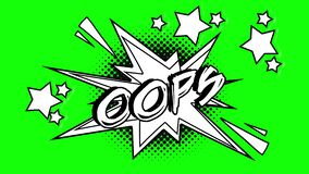 可笑的生气蓬勃的词哟 绿色屏幕 库存例证