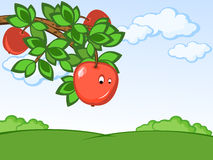 可笑的苹果 图库摄影