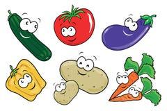 可笑的蔬菜 库存例证