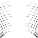 可笑的水平的弯曲的线背景 库存例证