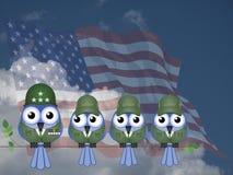 可笑美国战士 库存图片