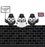 可笑英国贸易代表团 免版税图库摄影