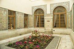 可耕的样式露台在俄国宫殿在雅尔塔 免版税库存图片