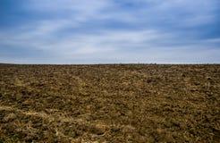 可耕的领域农场 免版税库存照片