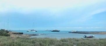 在海附近的风景 免版税库存图片