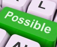 可能的钥匙意味可使用或可达成 免版税库存图片