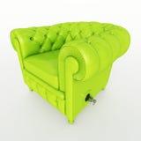 可膨胀的俱乐部沙发柠檬绿 免版税库存照片