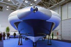 可膨胀的小船 免版税库存图片