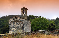 可西嘉岛修道院murato 库存图片