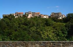 可西嘉岛村庄 免版税图库摄影