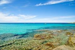 可西嘉岛法国水 免版税库存照片