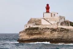 可西嘉岛灯塔 免版税库存图片