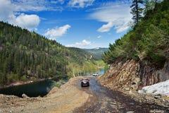 可西嘉岛科西嘉岛creno de法国LAC湖山山 免版税库存图片