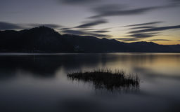 可西嘉岛科西嘉岛creno de法国LAC湖山山 免版税图库摄影