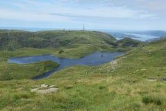 可西嘉岛科西嘉岛creno de法国LAC湖山山 库存图片