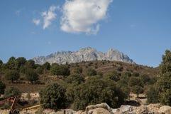 可西嘉岛,登上Cinto,狂放的风景,欧特Corse,上部Corse,法国,欧洲, Haut Asco, Asco谷,可西嘉岛的高中心 免版税图库摄影