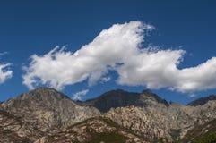 可西嘉岛,登上Cinto,狂放的风景,欧特Corse,上部Corse,法国,欧洲, Haut Asco, Asco谷,可西嘉岛的高中心 库存照片