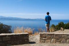 可西嘉岛,盖帽Corse,弯曲道路,狂放的风景,法国,欧洲,海岛,夏天,海滩 库存图片