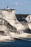 可西嘉岛, Bonifacio, Bonifacio,海滩,地中海,石灰石,峭壁,岩石, Bouches de Bonifacio海峡  免版税图库摄影