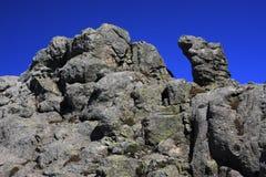 可西嘉岛gr20山行迹 免版税库存照片