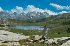 可西嘉岛Lac de Nino 库存图片