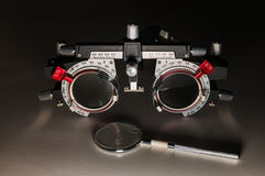 可调整的光学测试框架 免版税图库摄影