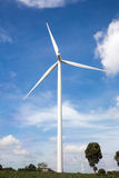 可选择能源农厂来源涡轮风 免版税库存图片