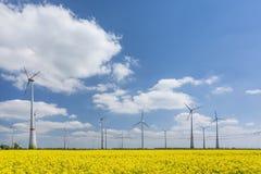 可选择能源农厂来源涡轮风 库存照片