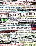 可选择能源标题 免版税库存图片