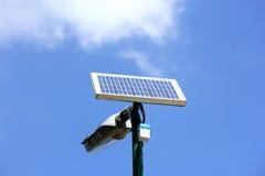 可选择能源的太阳电池板力量 库存图片
