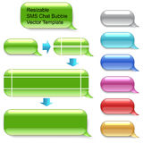 可重新调整的SMS聊天模板 图库摄影