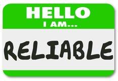 可靠的名牌贴纸可靠的工作者队员人 免版税图库摄影