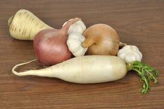 可食用的根菜类 库存照片